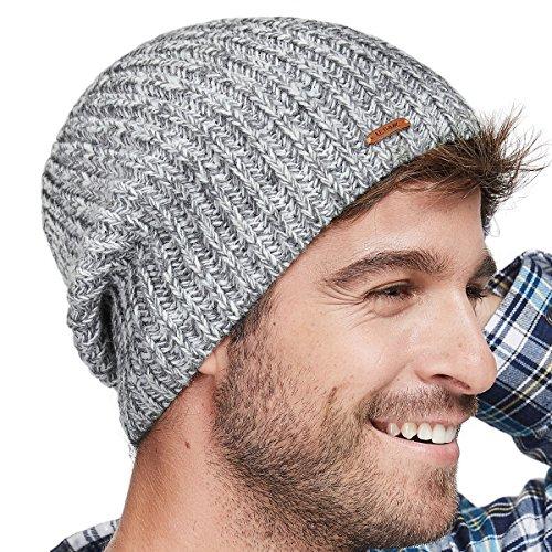 d5c9d6de97869 LETHMIK Fleece Lined Beanie Hat Mens Winter Solid Color Warm Knit Ski Skull  Cap
