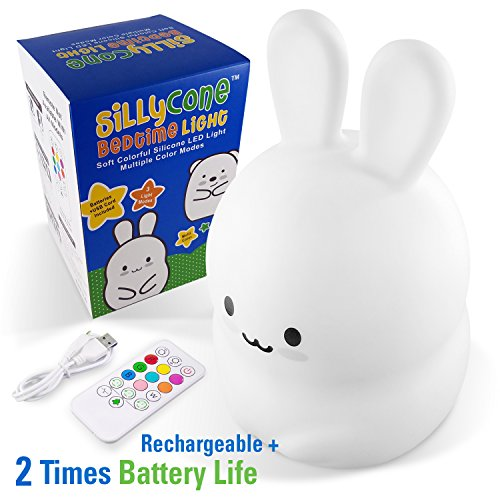 SillyCone Soft Silicone Rechargeable LED Children's Night