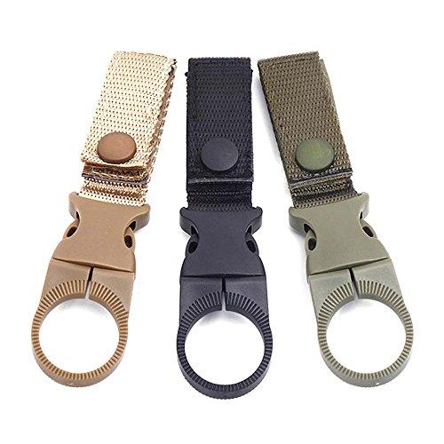 Aluminum Alloy Military Belt Carabiner Key Holder Bag Hook Buckle Strap Clip